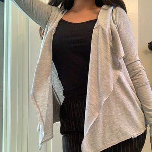 Gray Long-Sleeve Cardigan